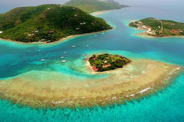Photo of the British Virgin Islands from the air
