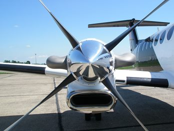 Image of an aircraft's propeller